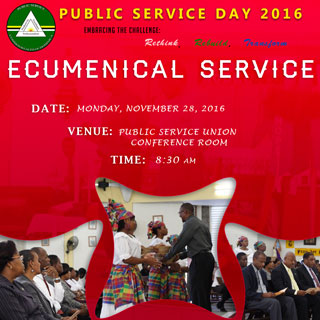 Public Service Day 2016 - Ecumenical Service