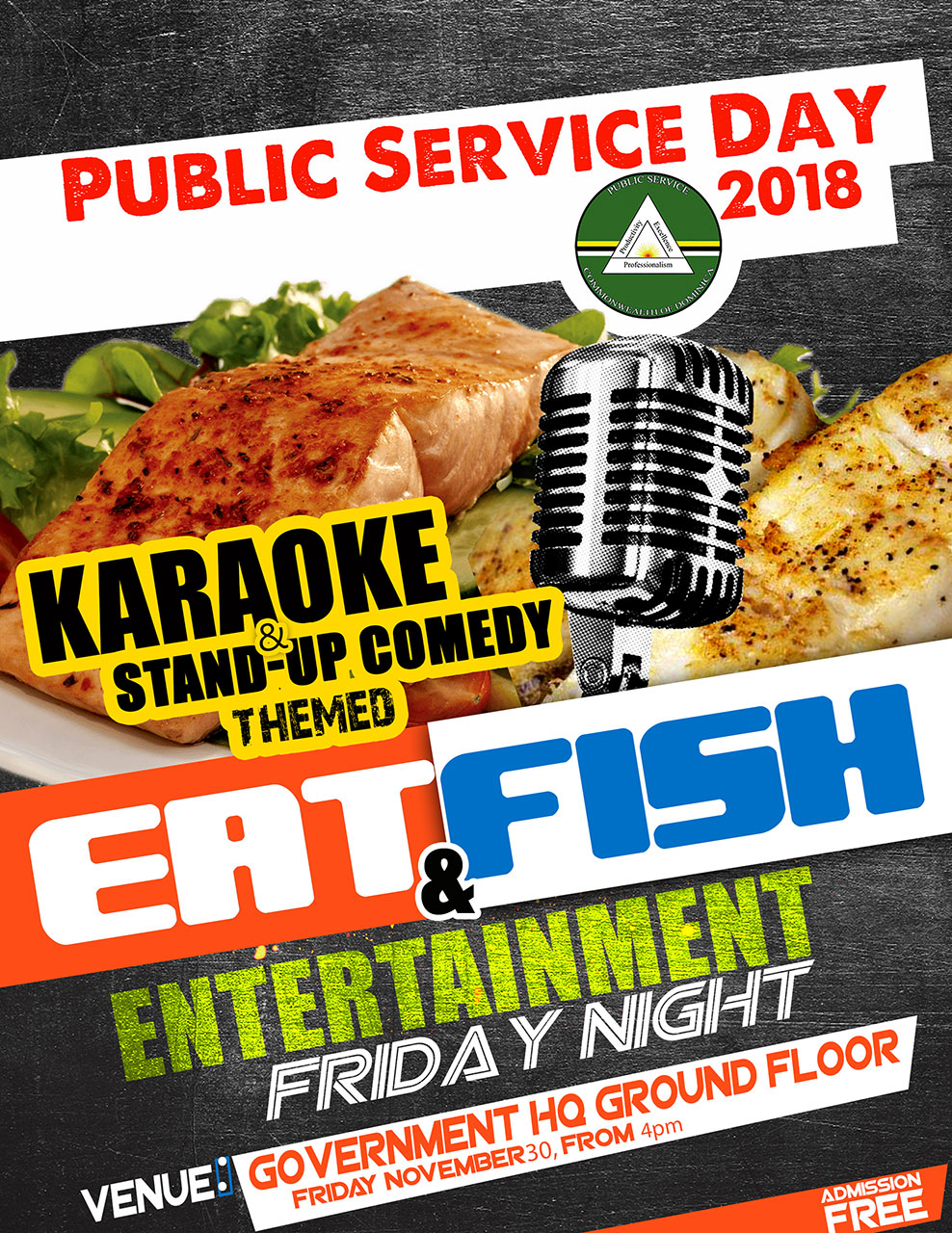 Eat Fish and Entertainment Night