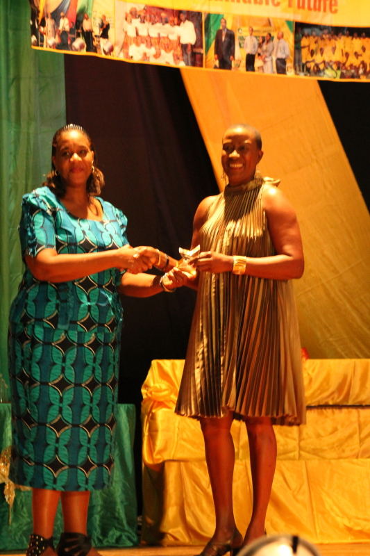 Temporary Officer Award:  Ms. Roselia Bazil (received by Mrs. Jiselle Allport, Senior Administrative Officer on her behalf)